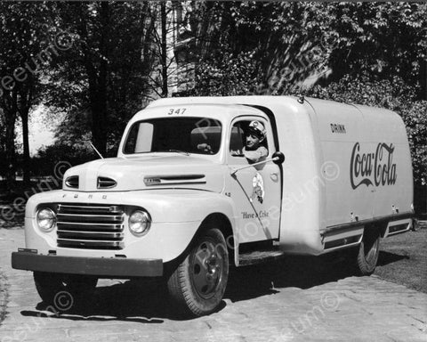 Coca Cola Soda Company Truck Have A Coke Vintage 1950's 8x10 Reprint Old Photo