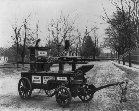 First Fire Engine Of Hempstead NY1832 8x10 Reprint Of Old Photo