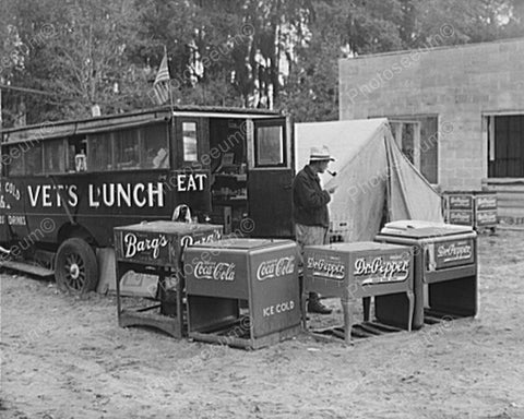 Antique Soda Coolers Barqs, Pepper, Coke 8x10 Reprint Of Old Photo