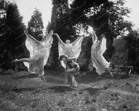 American Ballerinas Leaping Outside 1920 8x10 Reprint Of Old Photo