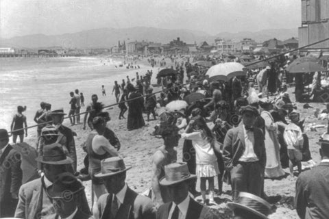 California Venice Beach Sunbathers 1910s 4x6 Reprint Of Old Photo