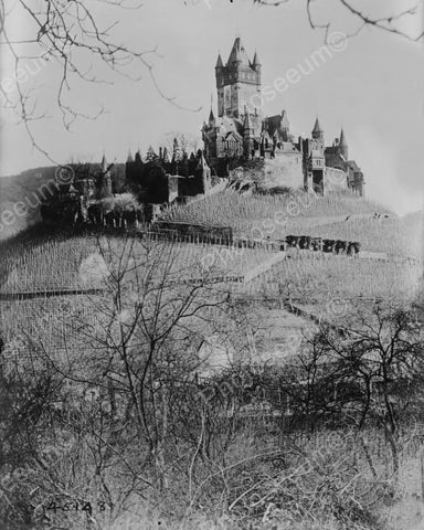Burg Cochem German Castle 1870s  8x10 Reprint Of Old Photo - Photoseeum