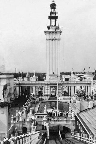Chicago White City Shoot the Chutes 1900s 4x6 Reprint Of Old Photo - Photoseeum