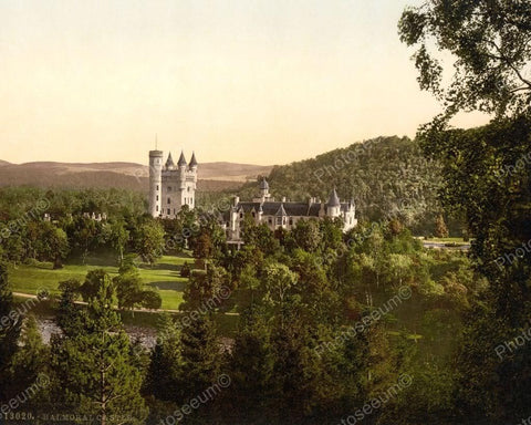 Balmoral Castle Scotland1890 Vintage 8x10 Reprint Of Old Photo