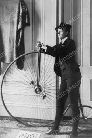 Victorian Woman Dressed As A Man With Antique Bicycle 4x6 Reprint Of Old Photo