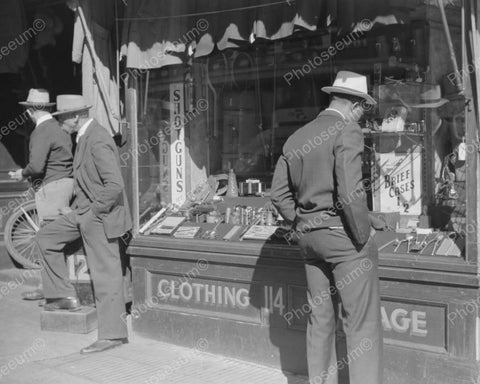 Pawn Shop Vintage Clothing 1939 Vintage 8x10 Reprint Of Old Photo