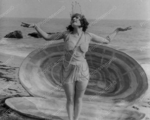 Beach Shell Dancing Vintage 8x10 Reprint Of Old Photo