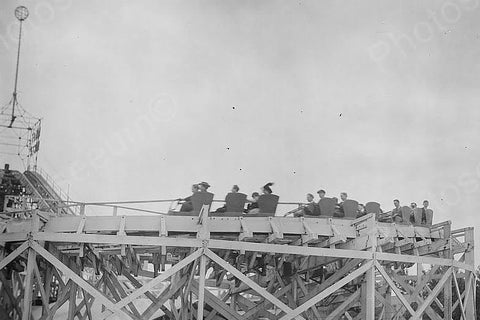 Coney Island Roller Coaster Ride 4x6 1920s Reprint Of Old Photo