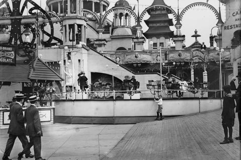 Coney Island Teaser Ride Luna Park 1900s 4x6 Reprint Of Old Photo