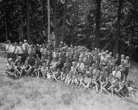 Boy Scouts Camp Roosevelt 1920s Group 8x10 Reprint Of Old Photo