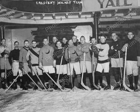 Young Men's Hockey Team 1900s Group 8x10 Reprint Of Old Photo