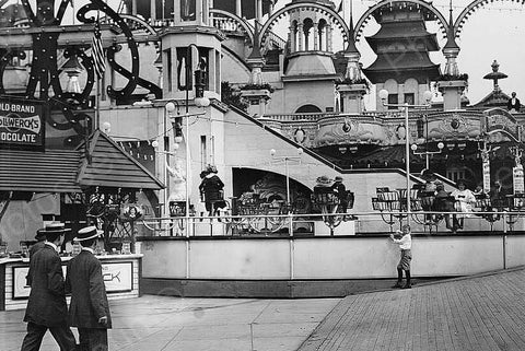 "Coney Island Luna Park ""The Teaser"" Ride 4x6  Reprint Of Old Photo"