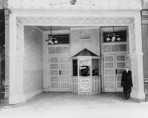 Vaudeville Box Office Entrance 1910s 8x10 Reprint Of Old Photo