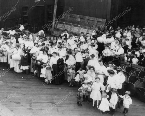 Women & Children Wait Floating Hospital 8x10 Reprint Of Old Photo - Photoseeum