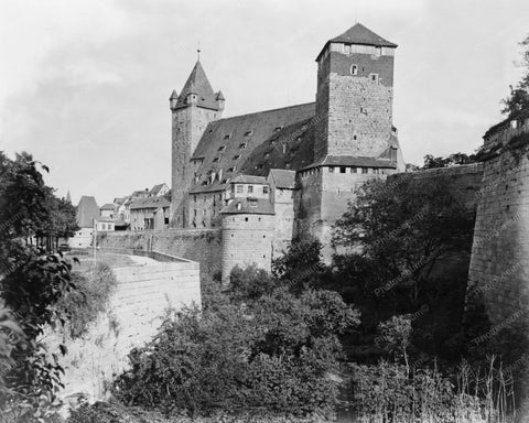 Castle Stunning! Nuremberg Germany Old 8x10 Reprint Of Old Photo