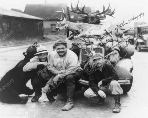 Babe Ruth Hunting With Friends Vintage 8x10 Reprint Of Old Photo