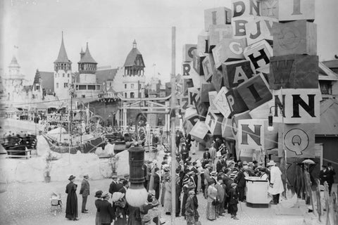 Coney Island Luna Park Scene 4x6 Reprint Of 1920s Old Photo - Photoseeum