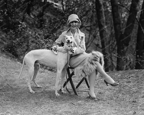 First Miss America And Her Dog 1920s 8x10 Reprint Of Old Photo