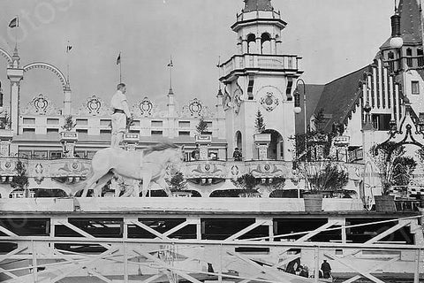 Coney Island Luna Park Circus Show 4x6 Reprint Of 1920s Old Photo