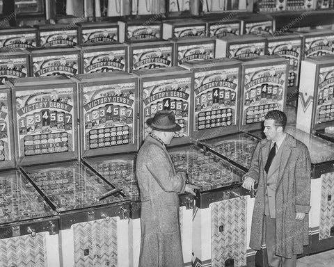 Bally Victory Derby 1946 Payout Pinball Machine 8x10 Reprint Of Old Photo