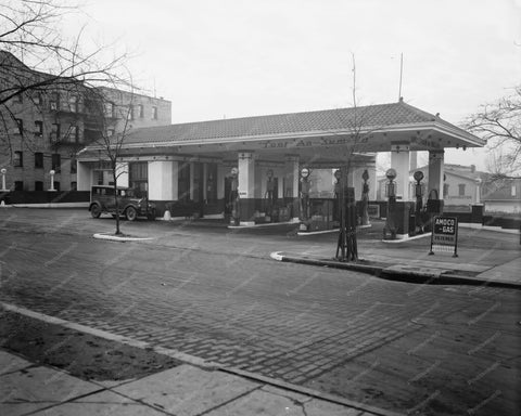Amoco Toot-An-Kum-In Gas Station 1920s 8x10 Reprint Of Old Photo