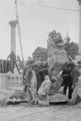 Coney Island Lion Statue 4x6 Reprint Of Old Photo