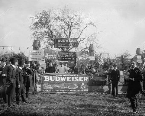 Budwiser Booth Attended by Shriners 1922 Vintage 8x10 Reprint Of Old Photo