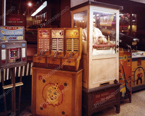 Fortune Teller Arcade Game Vintage 1960's 8x10 Reprint Old Photo