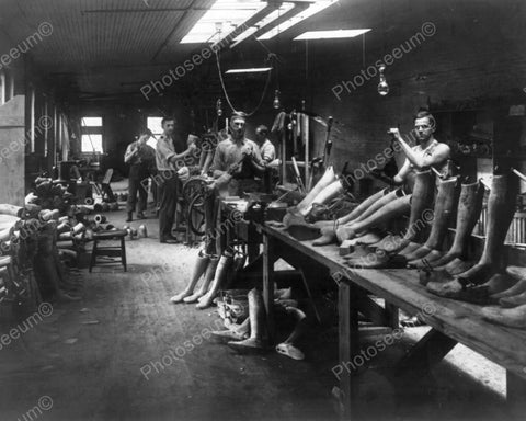 Artificial Limbs Factory Scene 1900s 8x10 Reprint Of Old Photo