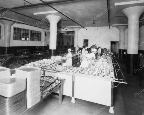 Cafeteria Counter American Chicle Co Plant Vintage 8x10 Reprint Of Old Photo - Photoseeum