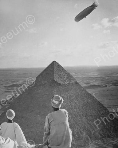 Airship Over Pyramind In Egypt 1900s 8x10 Reprint Of Old Photo - Photoseeum