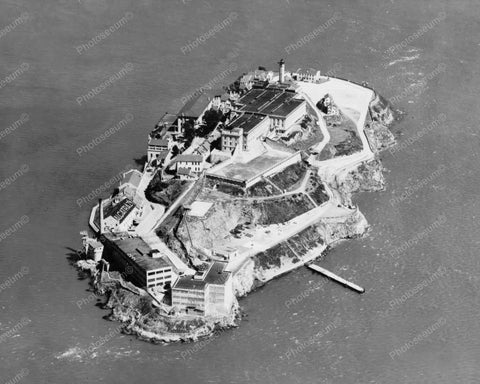 Alcatraz Island Aerial View 1930s 8x10 Reprint Of Old Photo 1 - Photoseeum