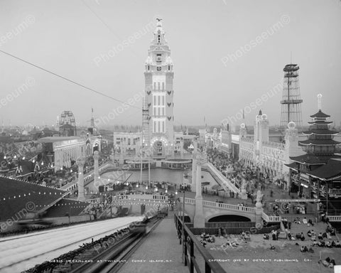 Dream Land Coney Island 1905 Vintage 8x10 Reprint Of Old Photo - Photoseeum