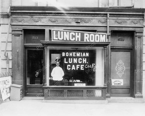 Bohemian Lunch Cafe Vintage 8x10 Reprint Of Old Photo