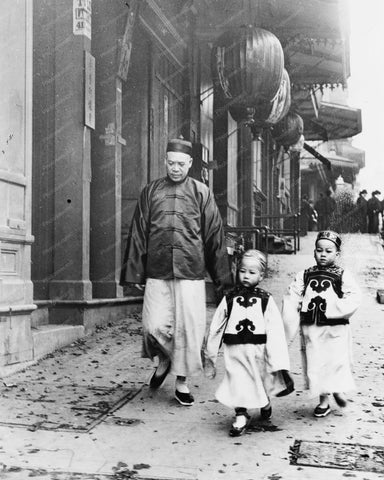 Children In Chinatown San Francisco 8x10 Reprint Of Old Photo