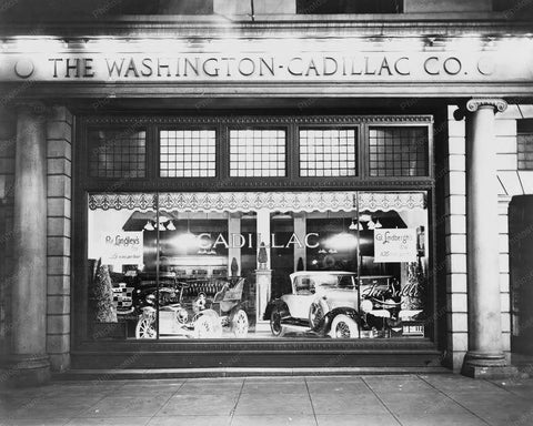 Cadillac Dealer Showroom Washington DC 8x10 Reprint Of Old Photo