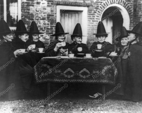Witches Council Enjoy Tea Vintage 1900s 8x10 Reprint Of Old Photo - Photoseeum