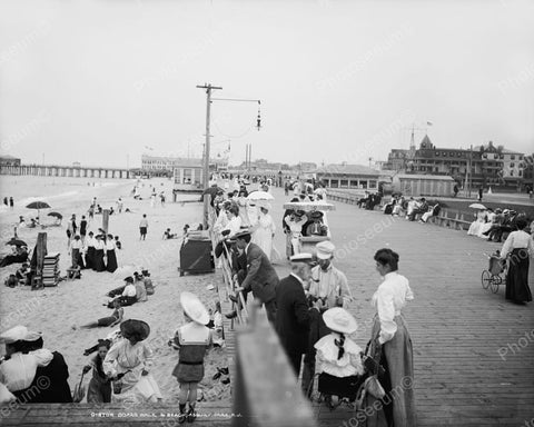 Boardwalk Beach Asbury Park NJ 1905 Vintage 8x10 Reprint Of Old Photo