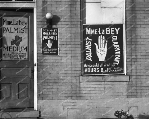 Madame La Bey Palmist Store Front & Sign 8x10 Reprint Of Old Photo