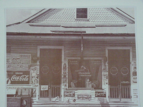 Chesterfield, 7UP, Barqs, RC General Store Sepia Card Stock Photo 1940s - Photoseeum