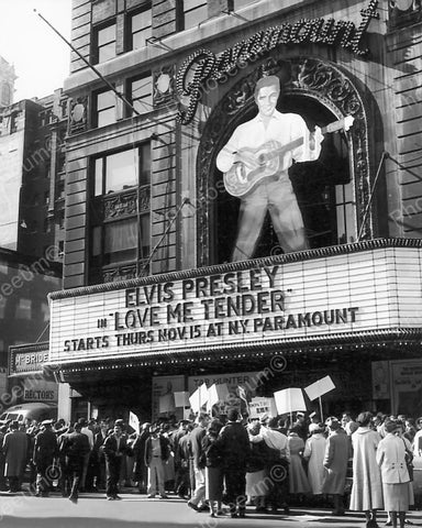 Elvis Presley Theater 1956 Vintage 8x10 Reprint Of Old Photo - Photoseeum