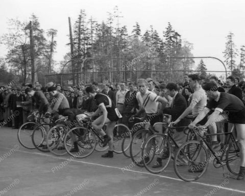 Bicycle Race 1930 Vintage 8x10 Reprint Of Old Photo