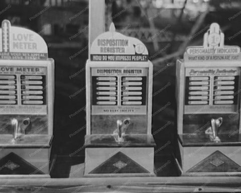 Antique 1900s Penny Arcade Machines 8x10 Reprint Of Old Photo