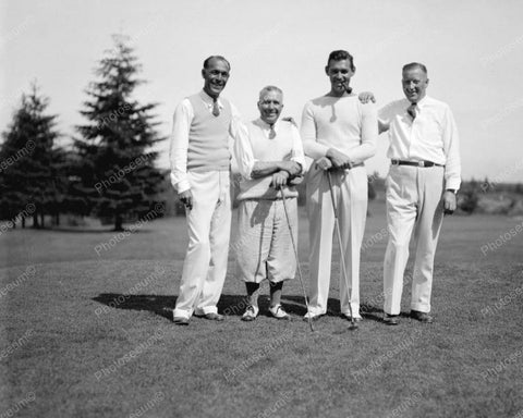 Clark Gable & Friends Playing Golf 1933 Vintage 8x10 Reprint Of Old Photo - Photoseeum