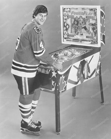 Bobby Orr Bally Power Play Pinball Machine 8x10 Vintage Reprint Of Old Photo