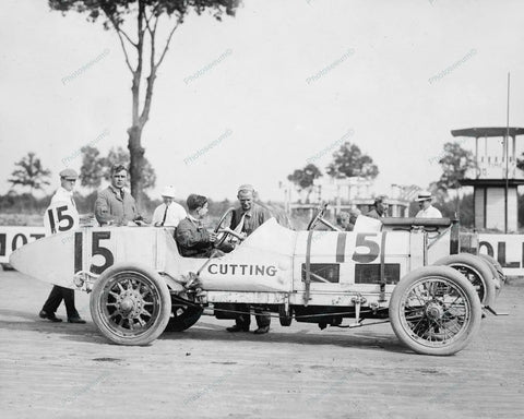Auto Races Benning Md Cutting 1916 Vintage 8x10 Reprint Of Old Photo