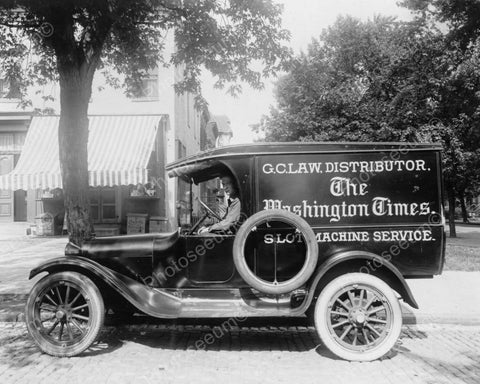 Antique Slot Machine Service Truck 1900s Old 8x10 Reprint Of Photo