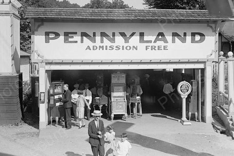 Glen Echo Park Pennyland Arcade 1920s 4x6 Reprint Of Old Photo