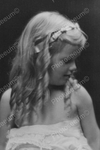 Beautiful Victorian Girl With Long Curls 4x6 Reprint Of Old Photo