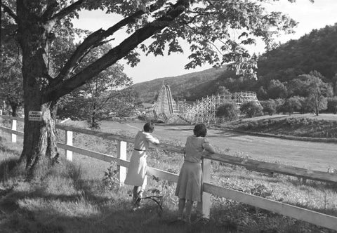 Connecticut Great View Roller Coaster1940 4x6 Reprint Of Old Photo